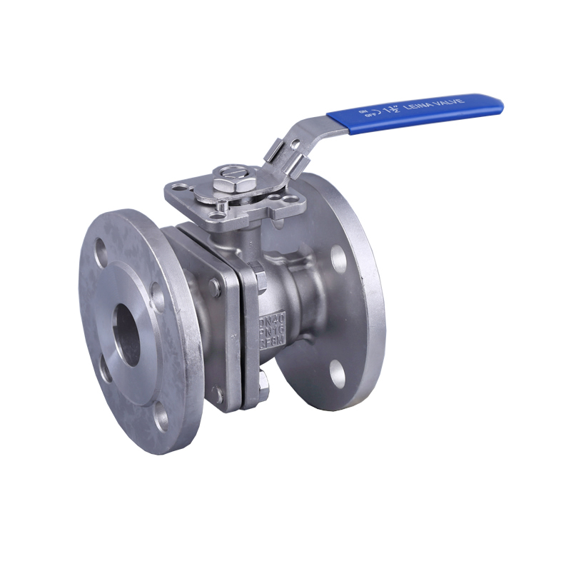 KN-Q2DFH-2PC flange ball valve with direct mounting pad PN16