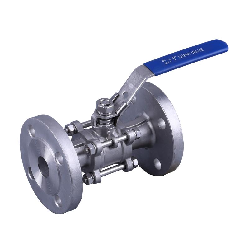 LN-Q3DFH-3PC flange ball valve PN16